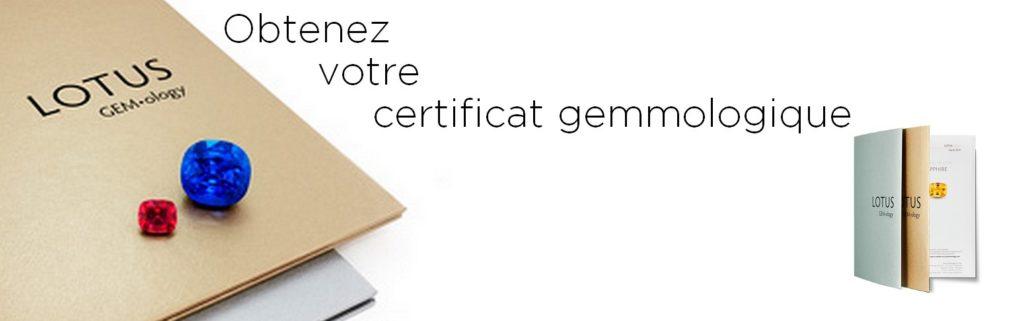 Obtenez votre certificat gemmologique